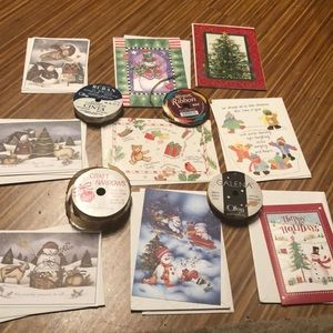 Other - 21-piece NWT BOGO holiday cards/envelopes & ribbon